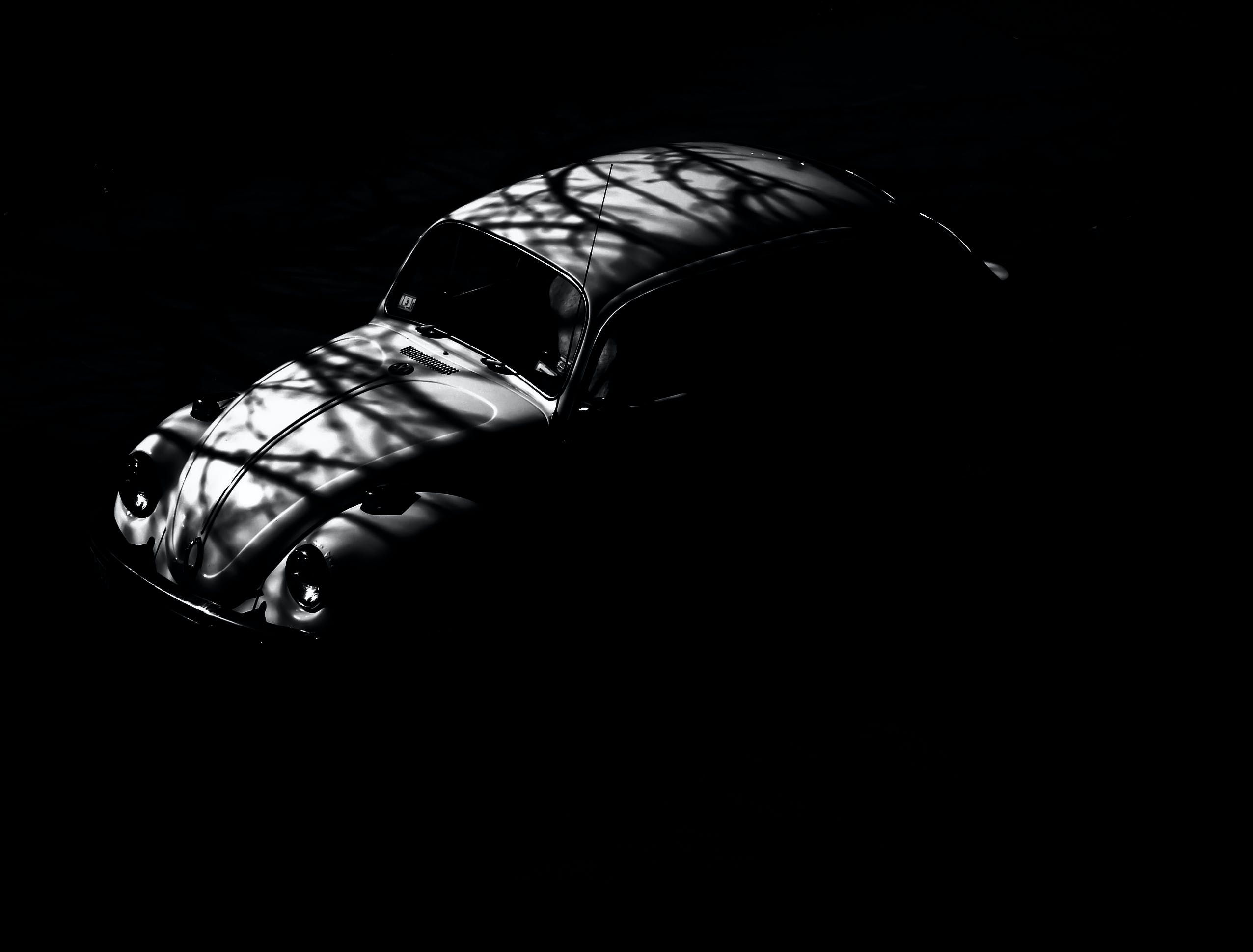 Free stock photo of black-and-white, dark, car, vehicle