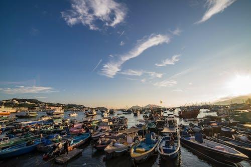 Photos gratuites de amarré, bateaux, ciel, eau
