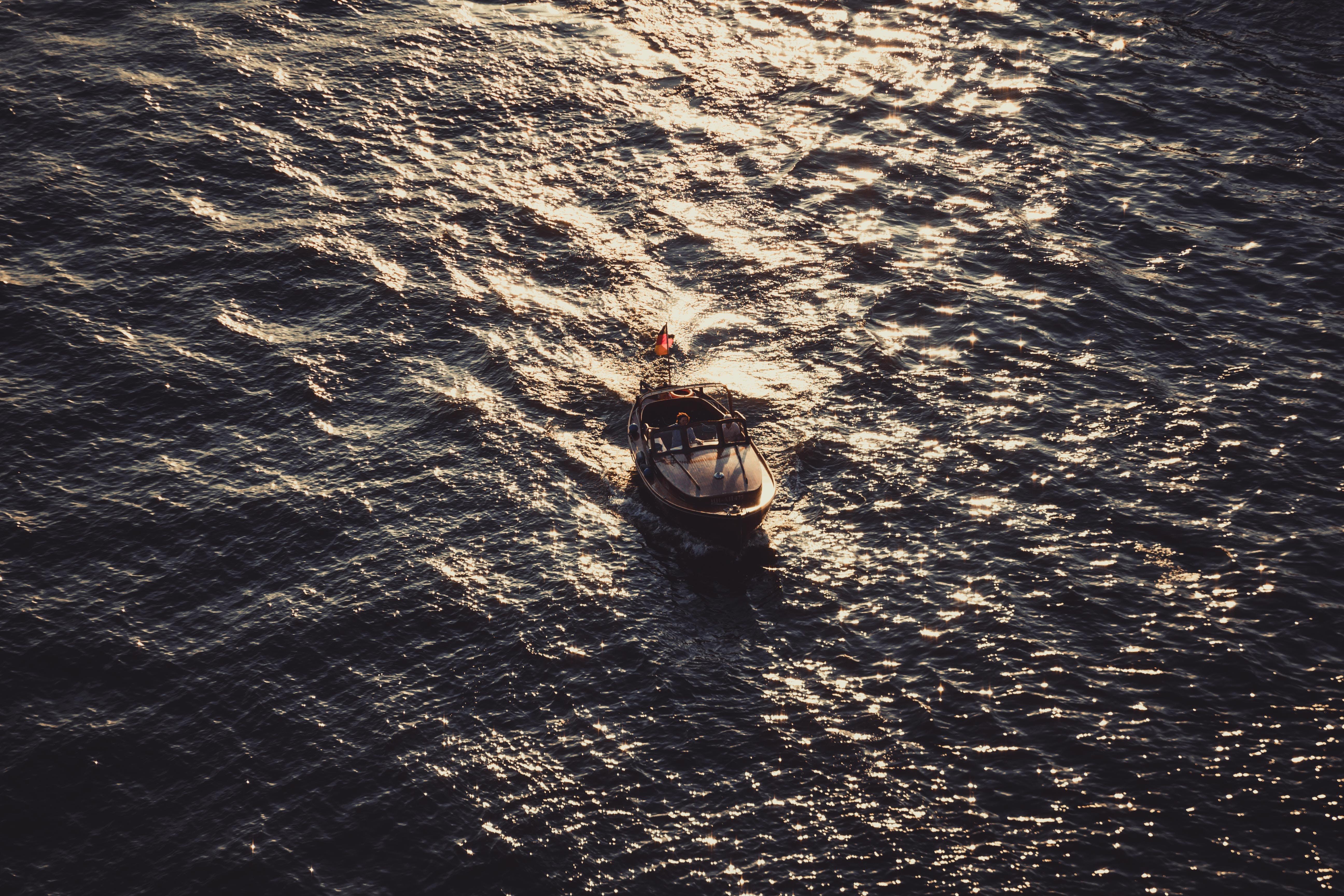Free stock photo of alone, beautiful, bird's eye view, blue water