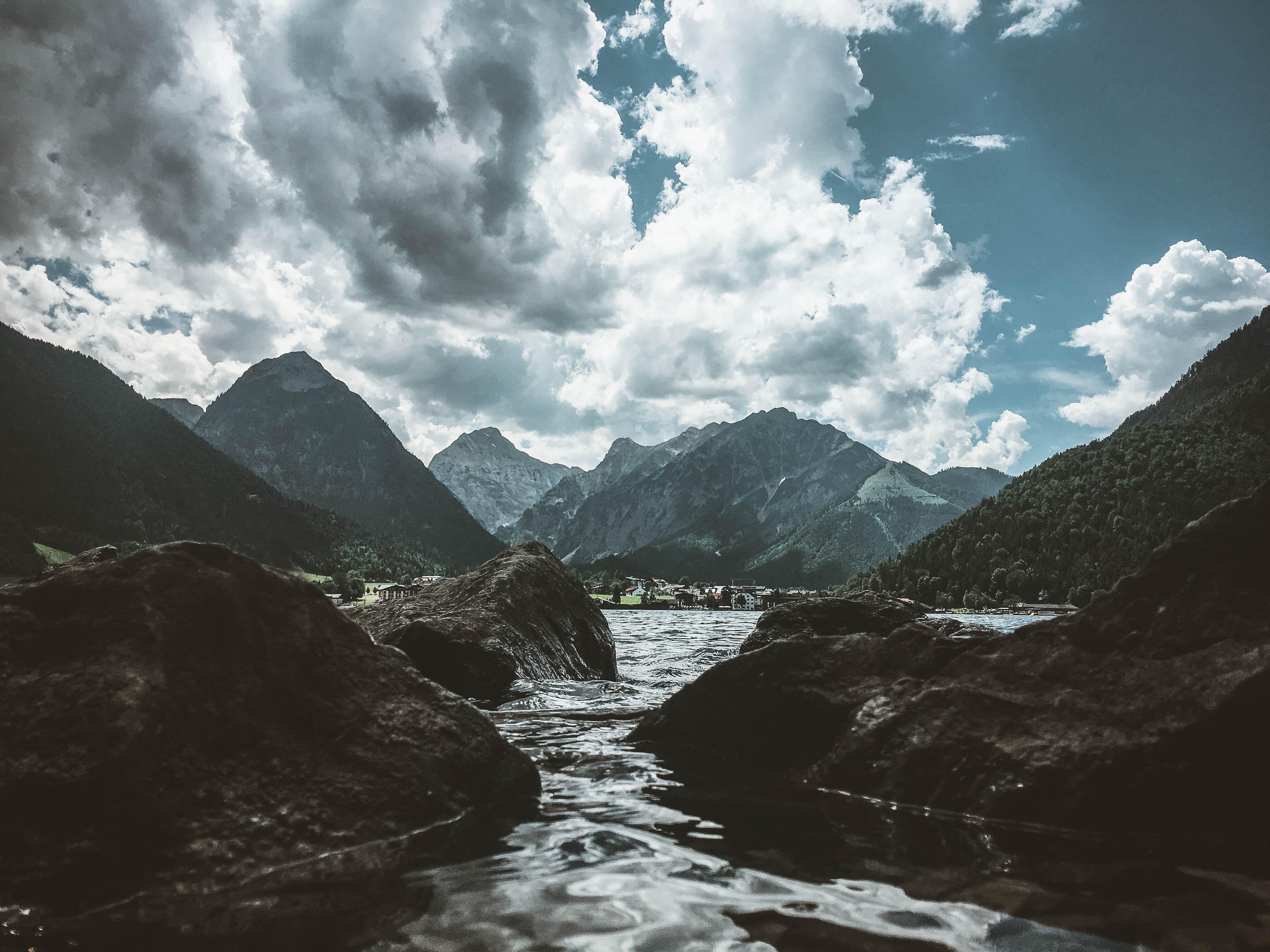 Foto stok gratis awan, batu, fjord, gunung