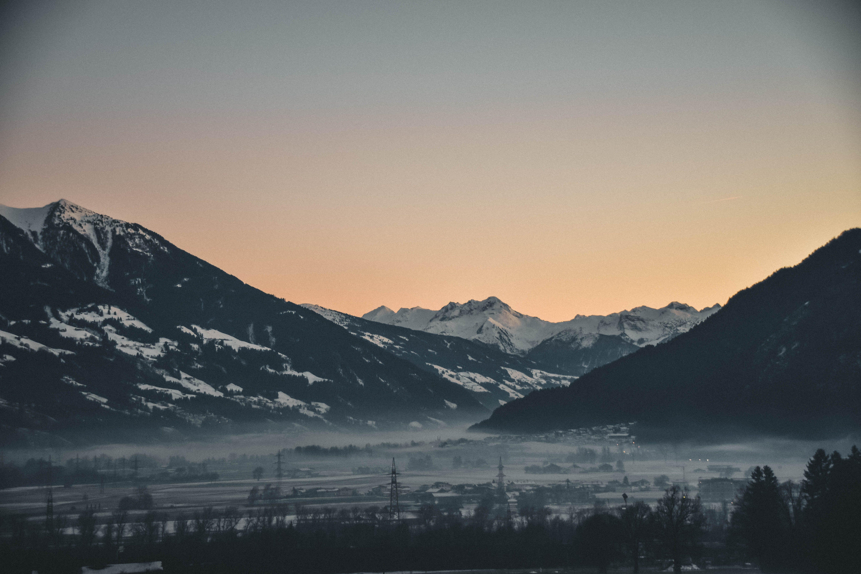 HDの壁紙, コールド, 夜明け, 山の無料の写真素材