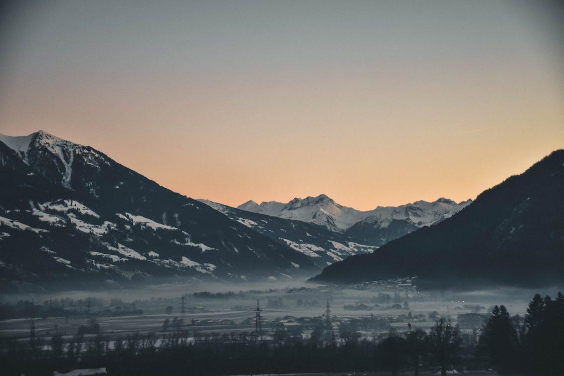 αυγή, βουνό, γραφικός