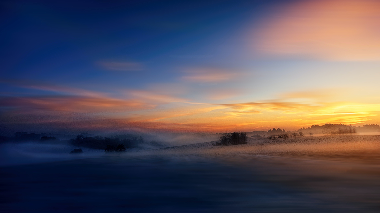 Ảnh lưu trữ miễn phí về bầu trời, bình minh, cánh đồng, có sương mù