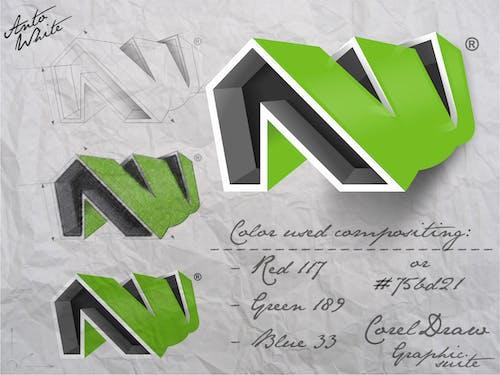 Free stock photo of green logo, logoconcept, logotype