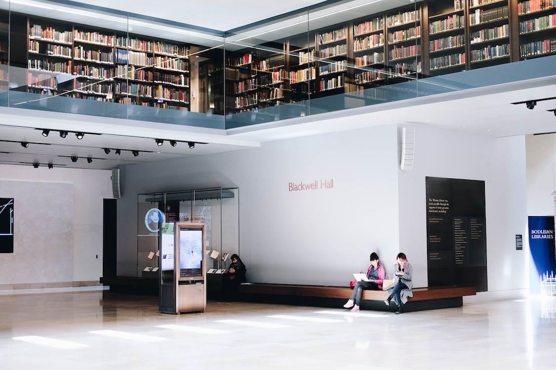 architektura, čtení, knihovna