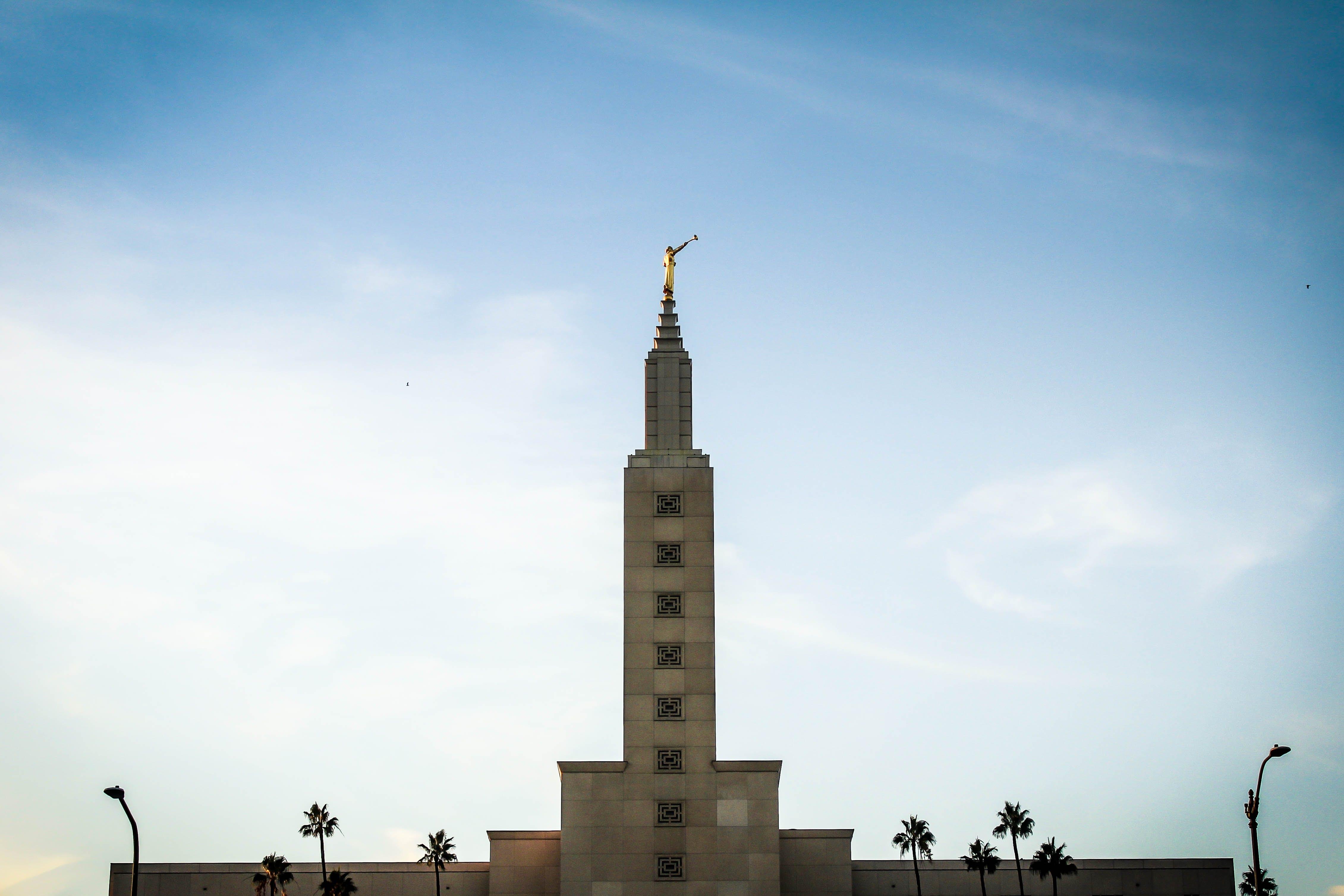 architektur, die los angeles-kalifornien-tempel auf santa monica, gebäude