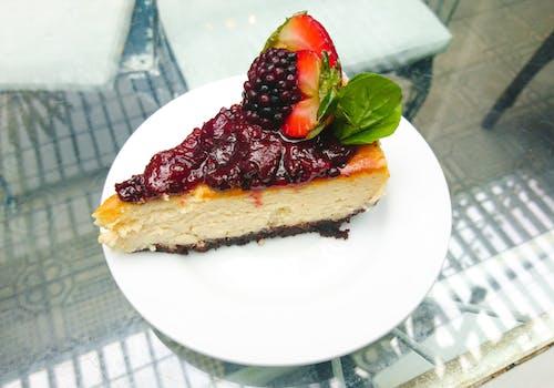Ilmainen kuvapankkikuva tunnisteilla hedelmät, herkullista, juustokakku, kakku