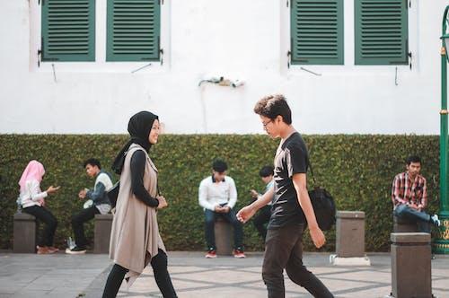 Free stock photo of couple, couple walking, man, woman