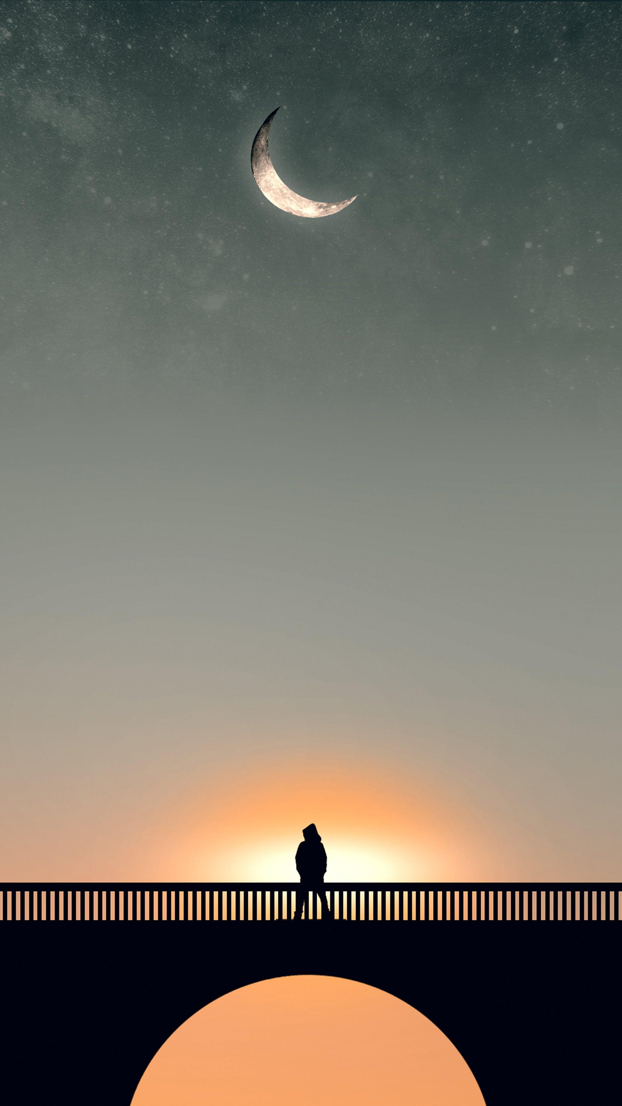 Free stock photo of alone, blue sky, boy, bridge