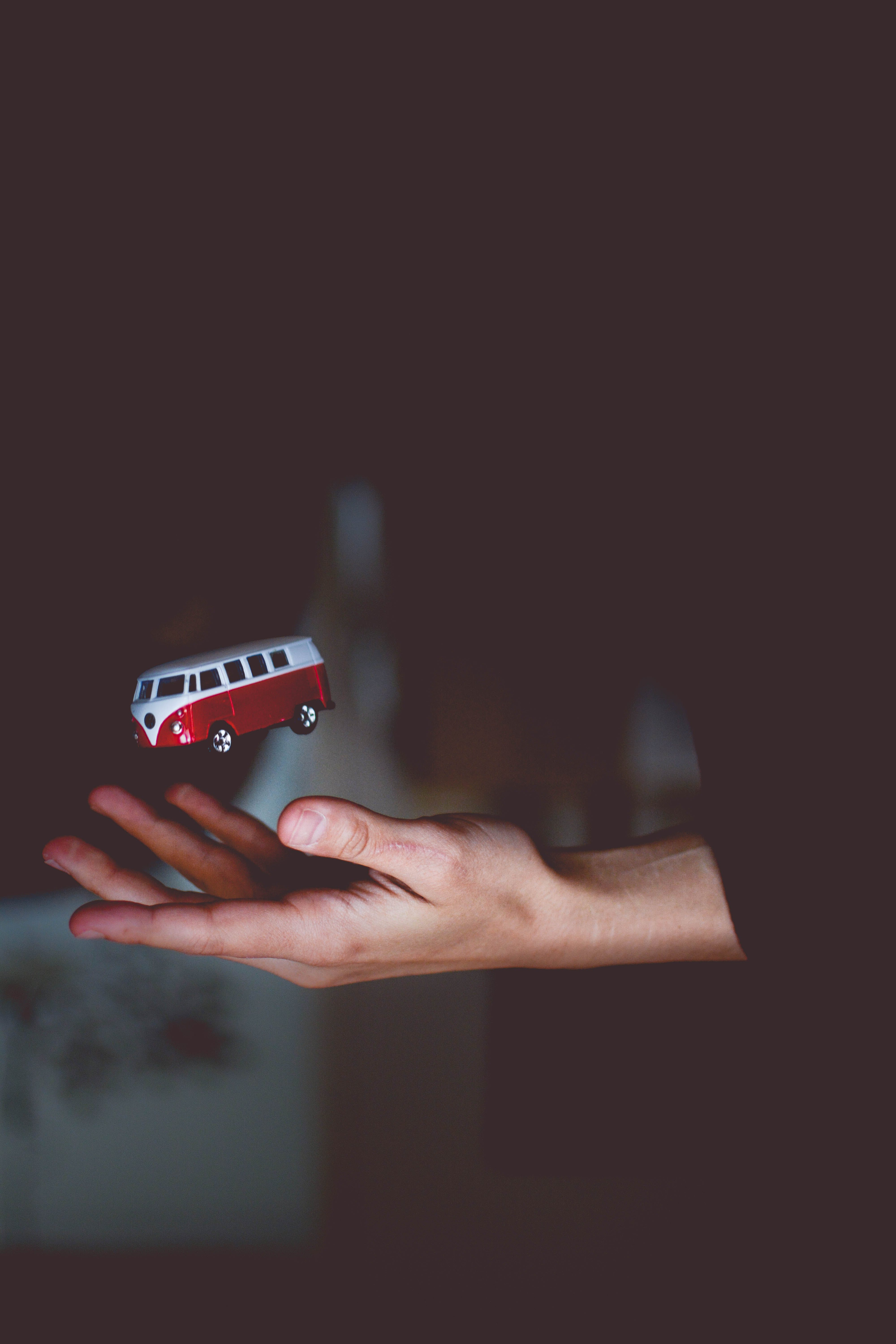 Red and White Bus Toy