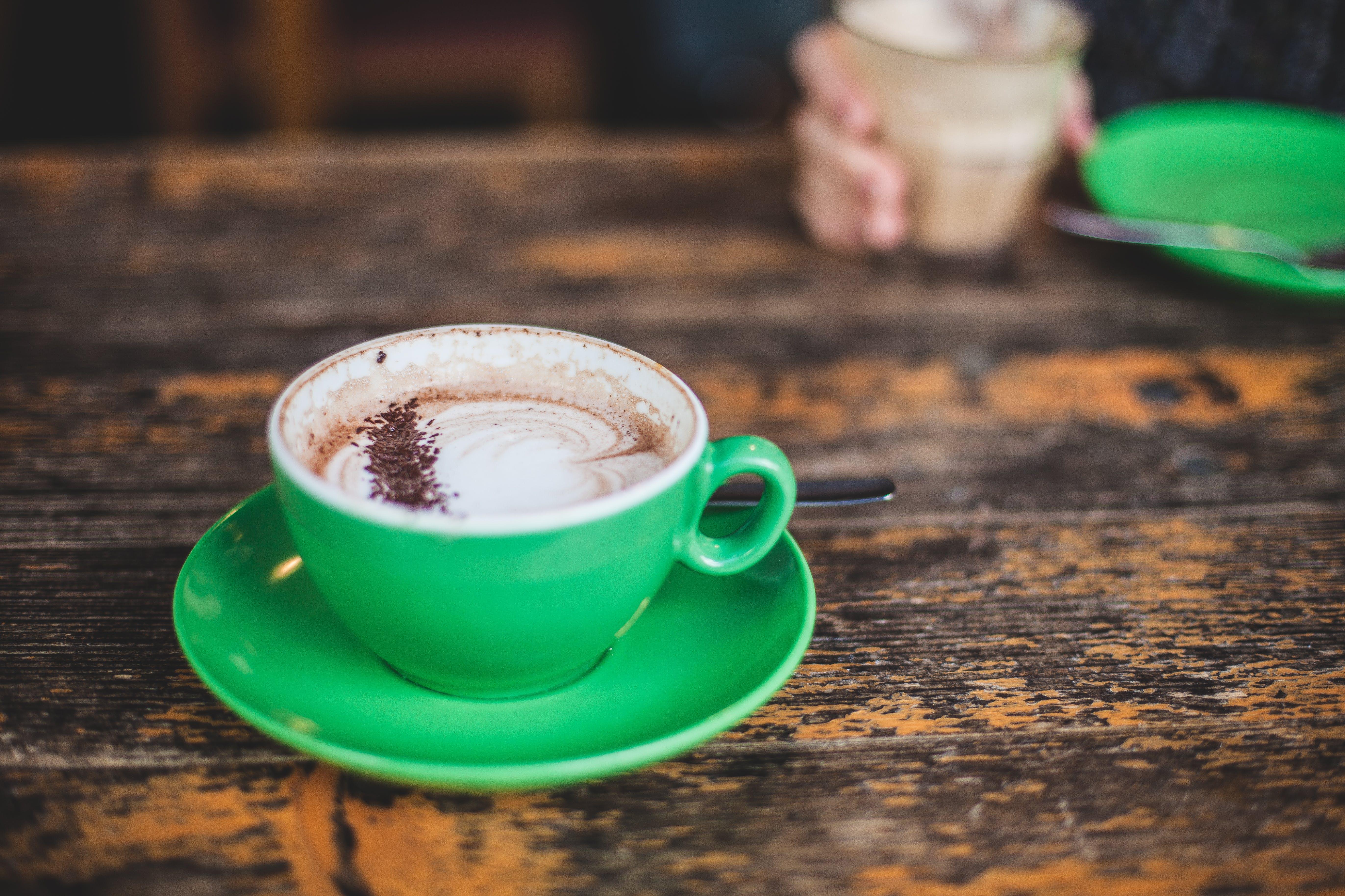 White Ceramic Mug With Cappuccino