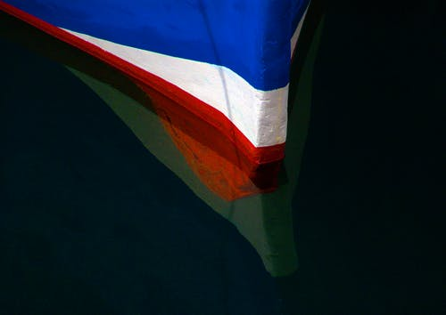 Free stock photo of fishing boat, keel, red white blue