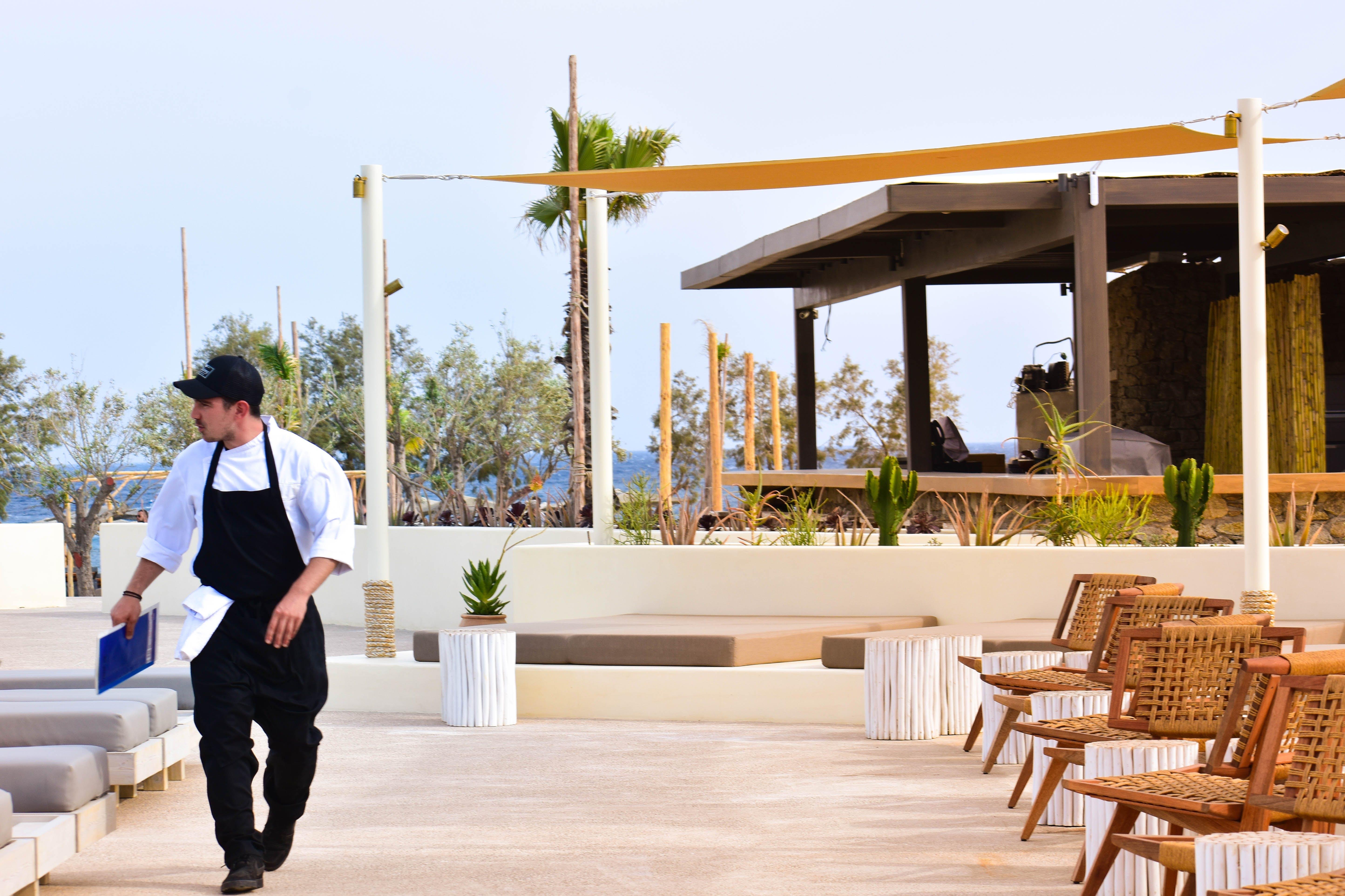 Free stock photo of Beach club, beach side, chair, deck