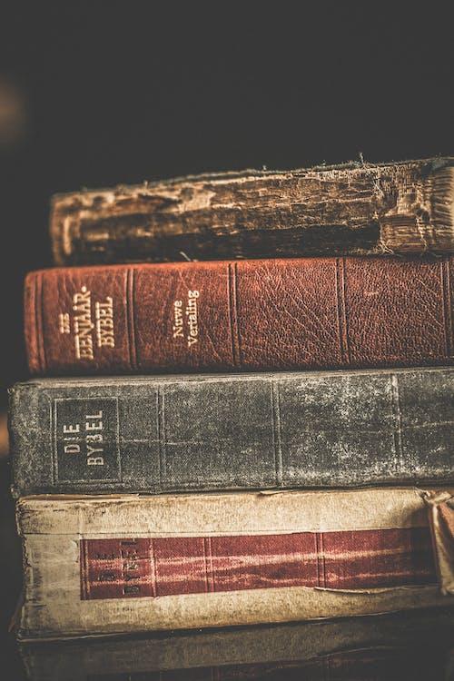 Бесплатное стоковое фото с Библия, книги, книги в твердом переплете, старые книги