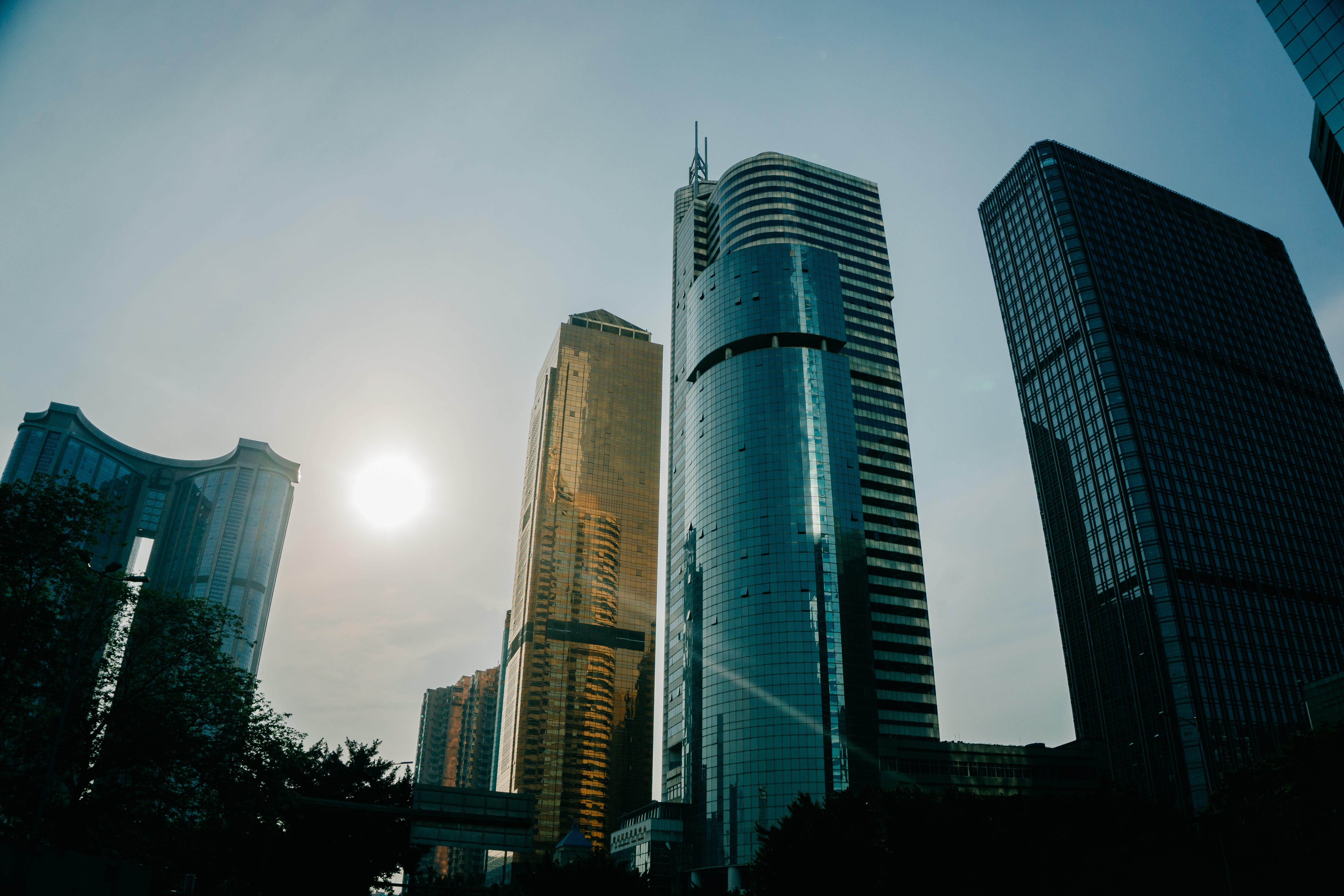 Photo of Gray Concrete Buildings