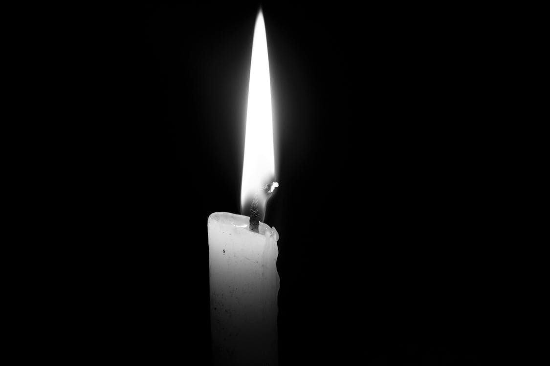 Free stock photo of black and white, candle, light