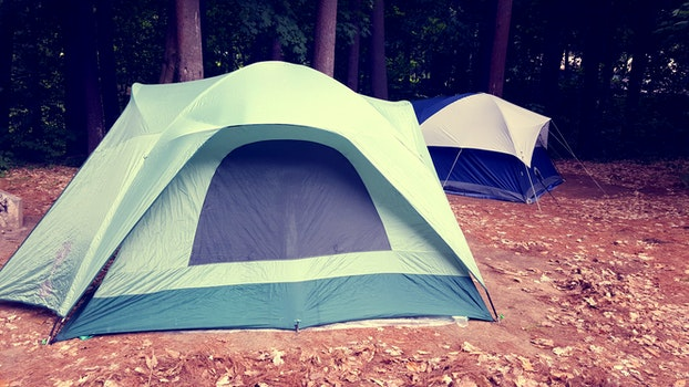 White Green and Black Outdoor Tent