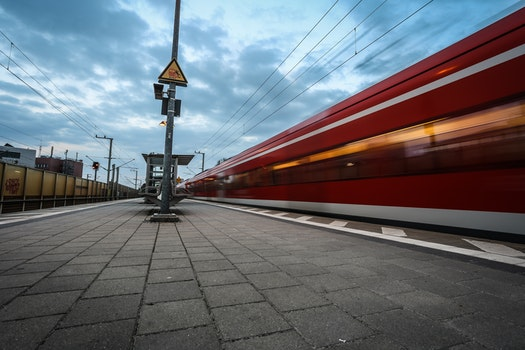 Free stock photo of red, train, blur, motion