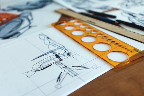 Gratis arkivbilde med arkitekt, designe, diagram, dokument