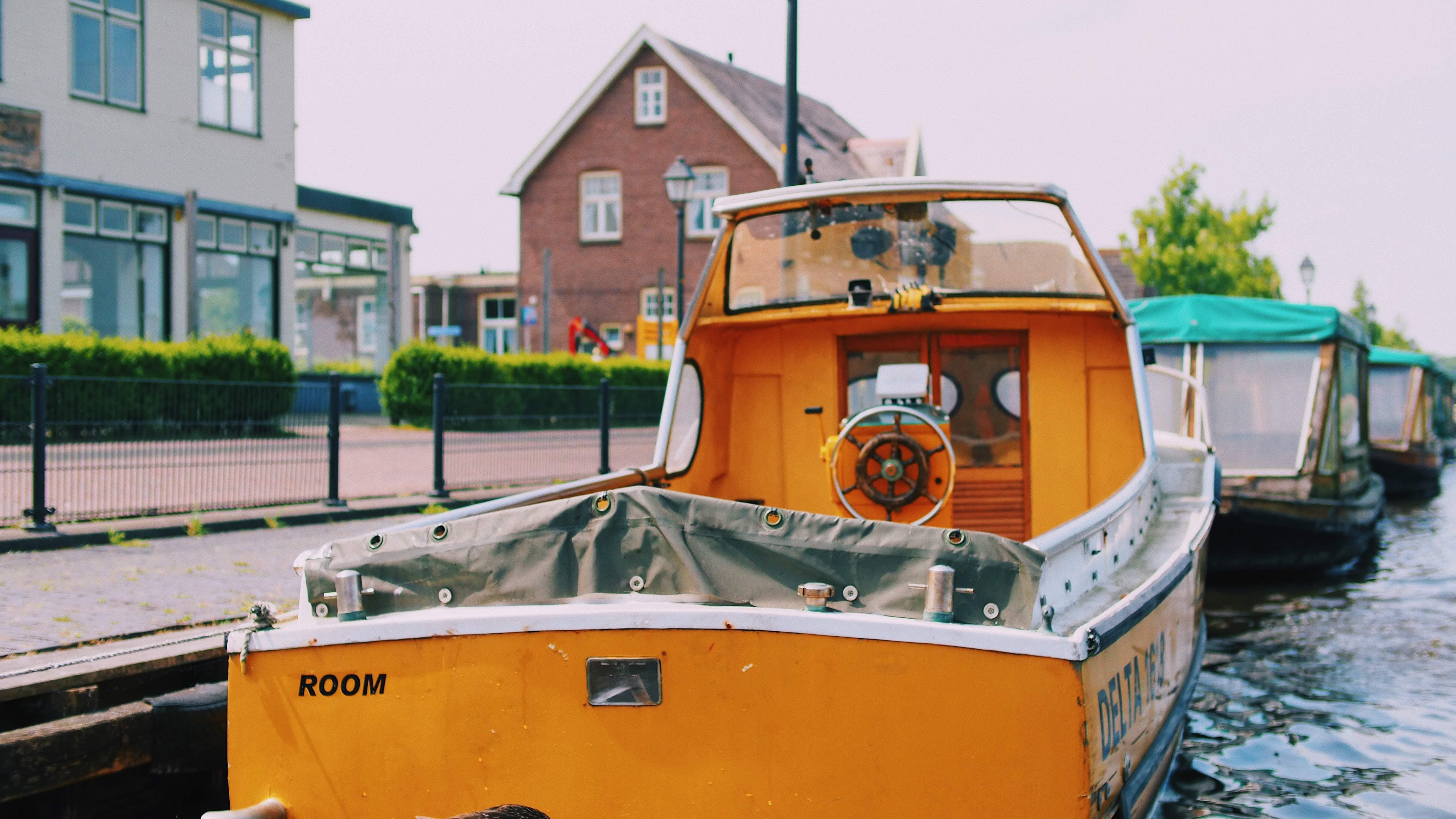 Orange Motorboat