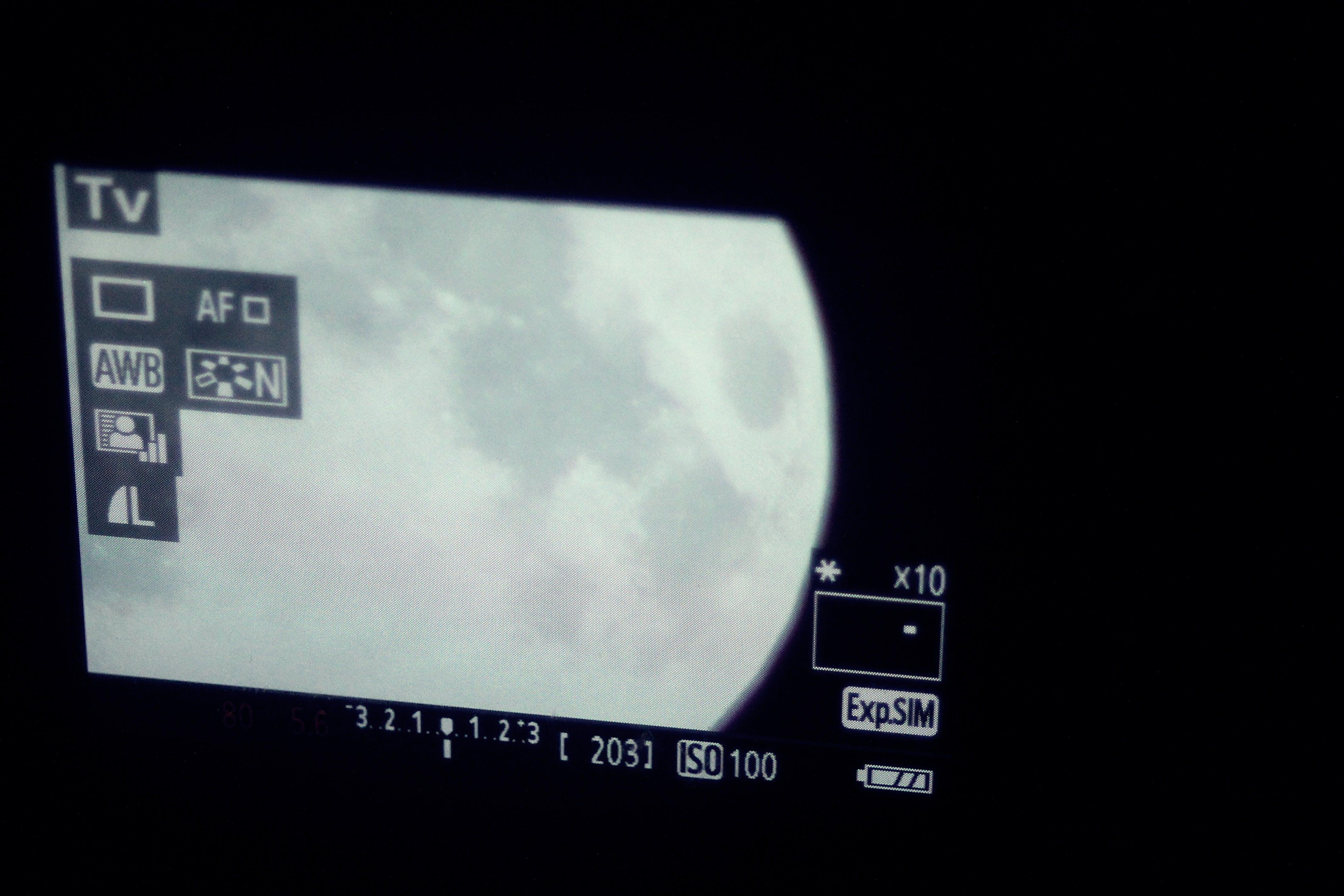 Kostenloses Stock Foto zu himmel, mond, digitalkamera