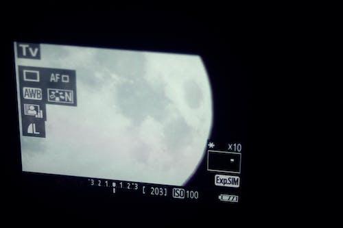 Kostenloses Stock Foto zu digitalkamera, himmel, mond
