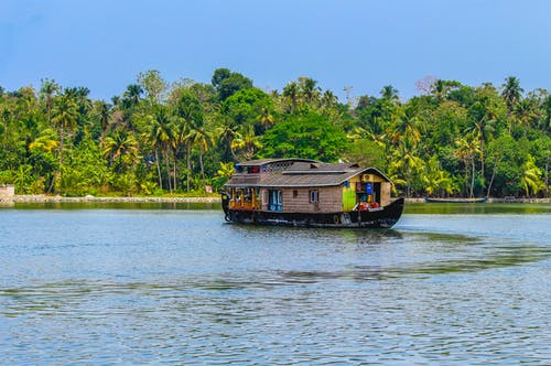 Photo of Floating House on River