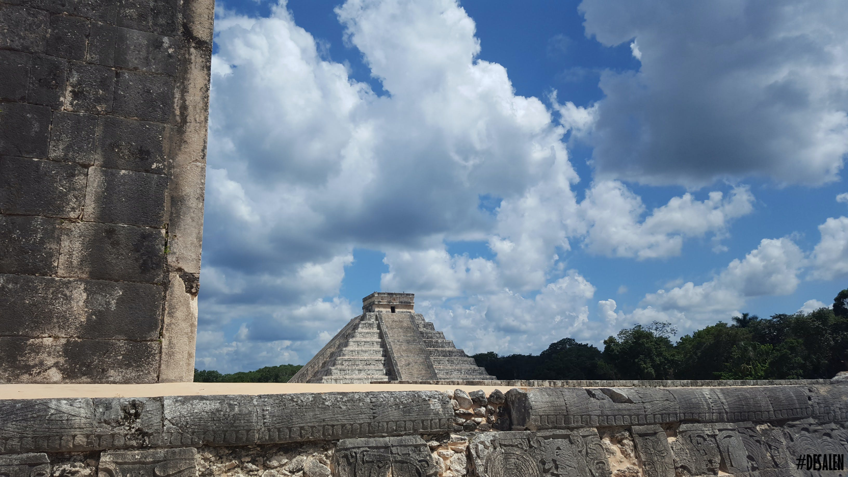 Free stock photo of anicent, blue sky, Chichén Itzá, clouds