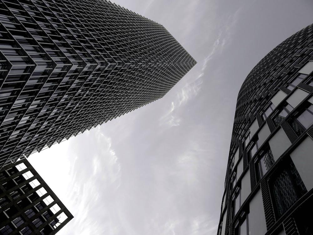 architektura, budynek, drapacz chmur