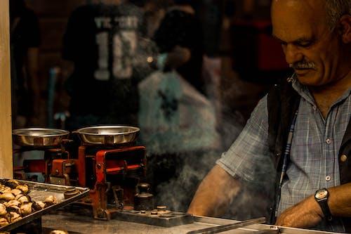 길거리 음식, 남자, 노점상, 상인의 무료 스톡 사진