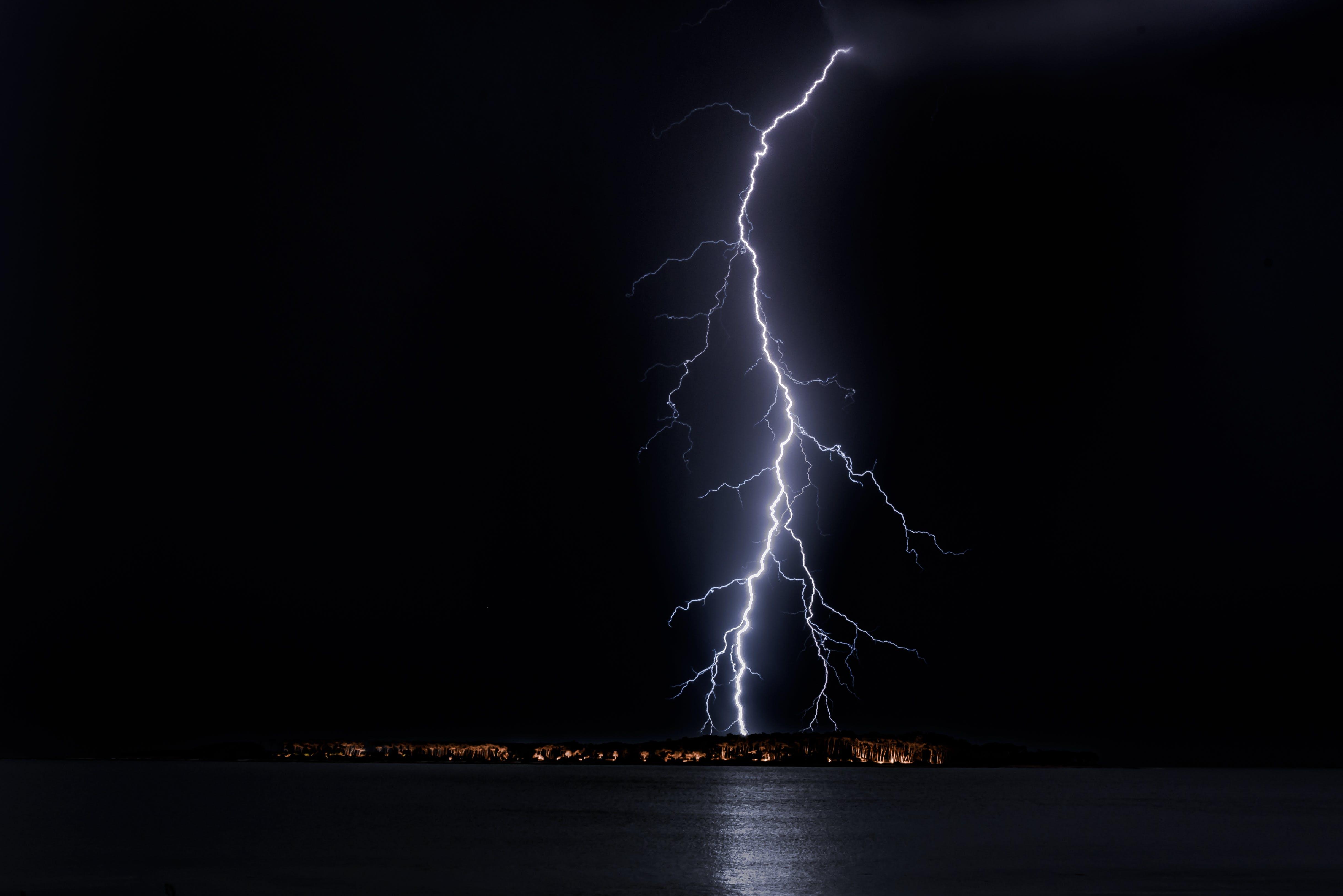 Lightning Strike on City