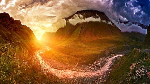 下落, 光, 原本, 太陽 的 免费素材照片