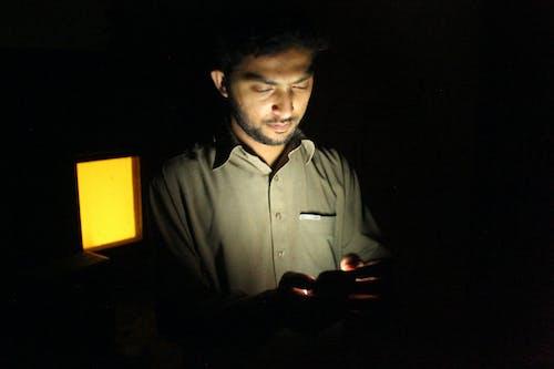 คลังภาพถ่ายฟรี ของ กลางคืน, คน, ร่างกาย, ใช้งานโทรศัพท์