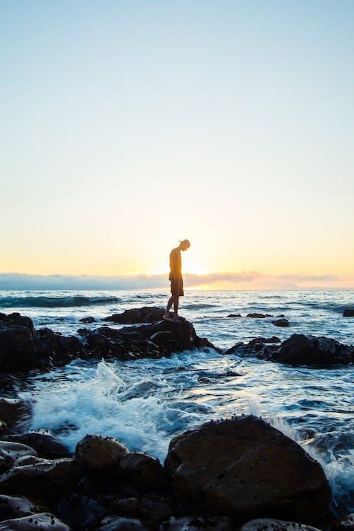 Foto profissional grátis de água, alvorecer, beira-mar, conhecimento