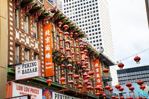 Fotos de stock gratuitas de al aire libre, barrio chino, edificio, farol