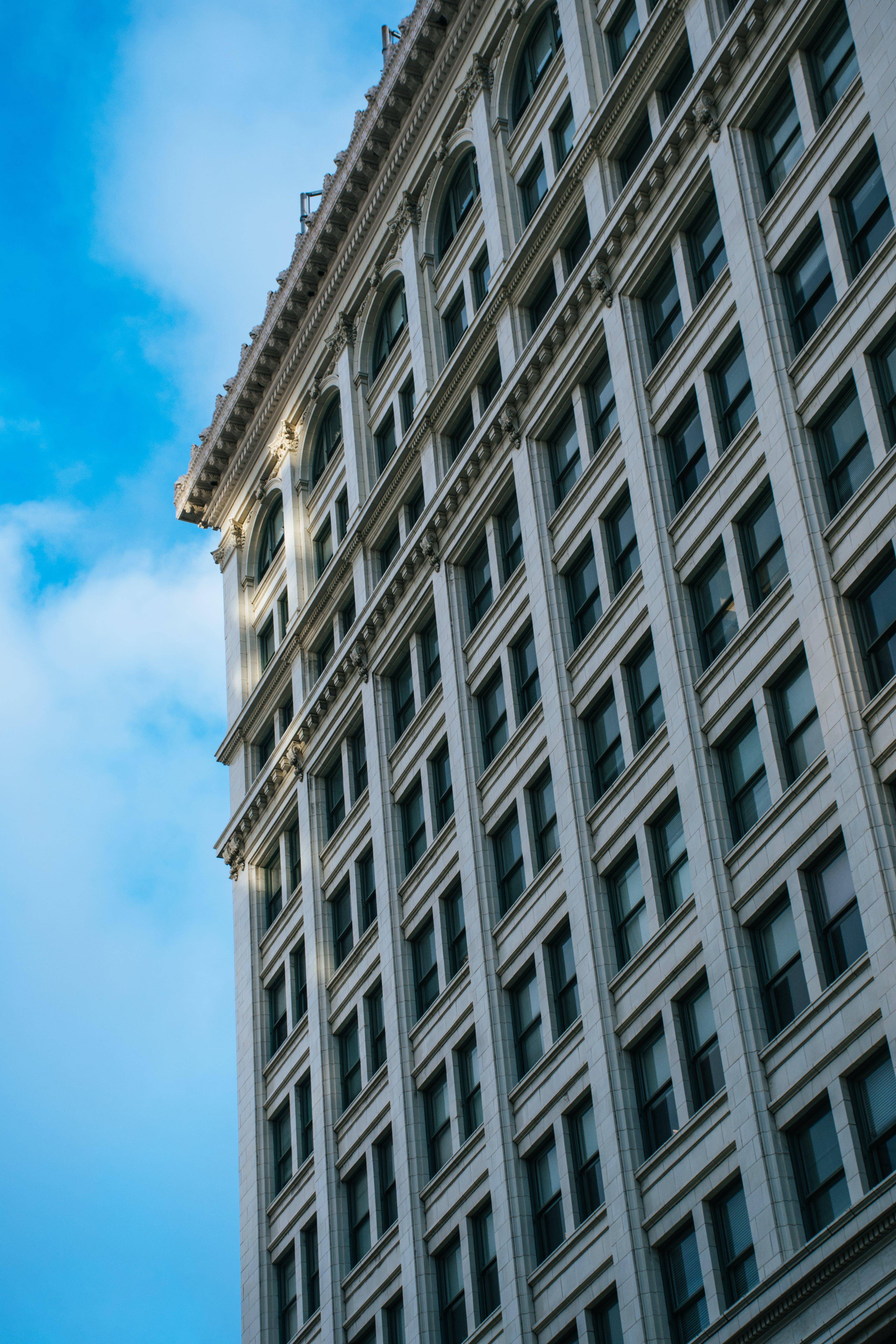 arkitektur, bygning, høy