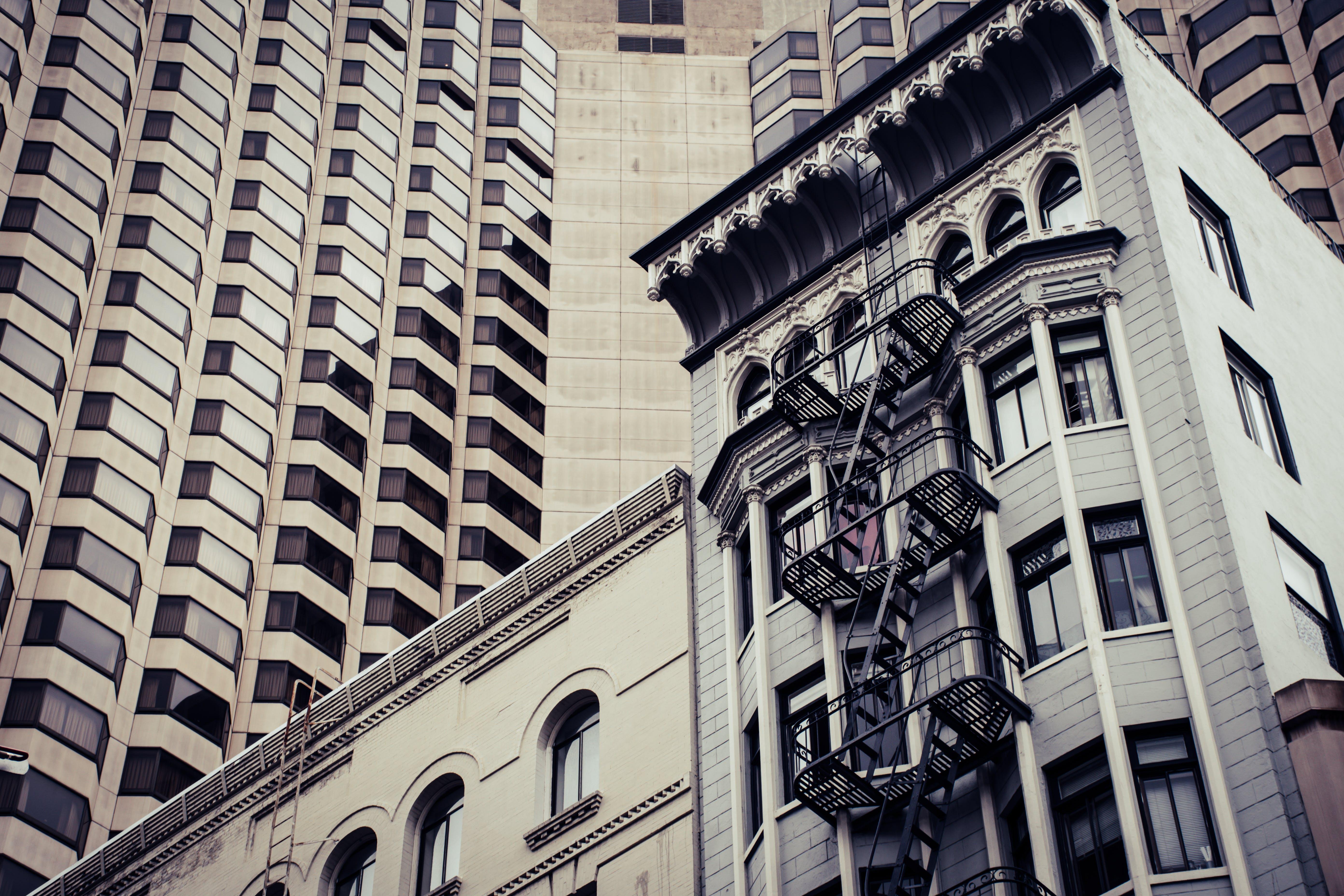 アパート, モダン, 外観, 建築の無料の写真素材