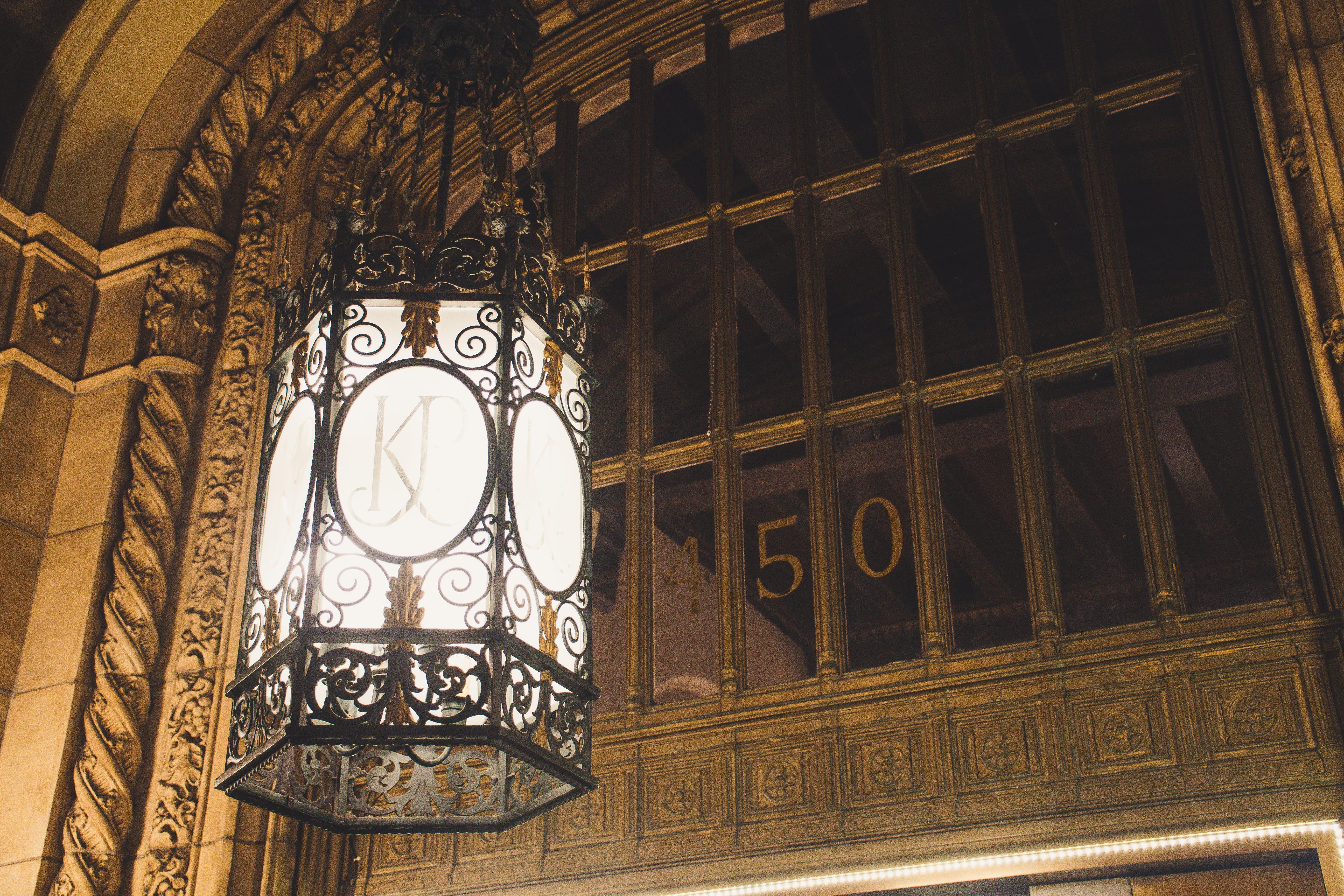 Black Scroll Pendant Lamp