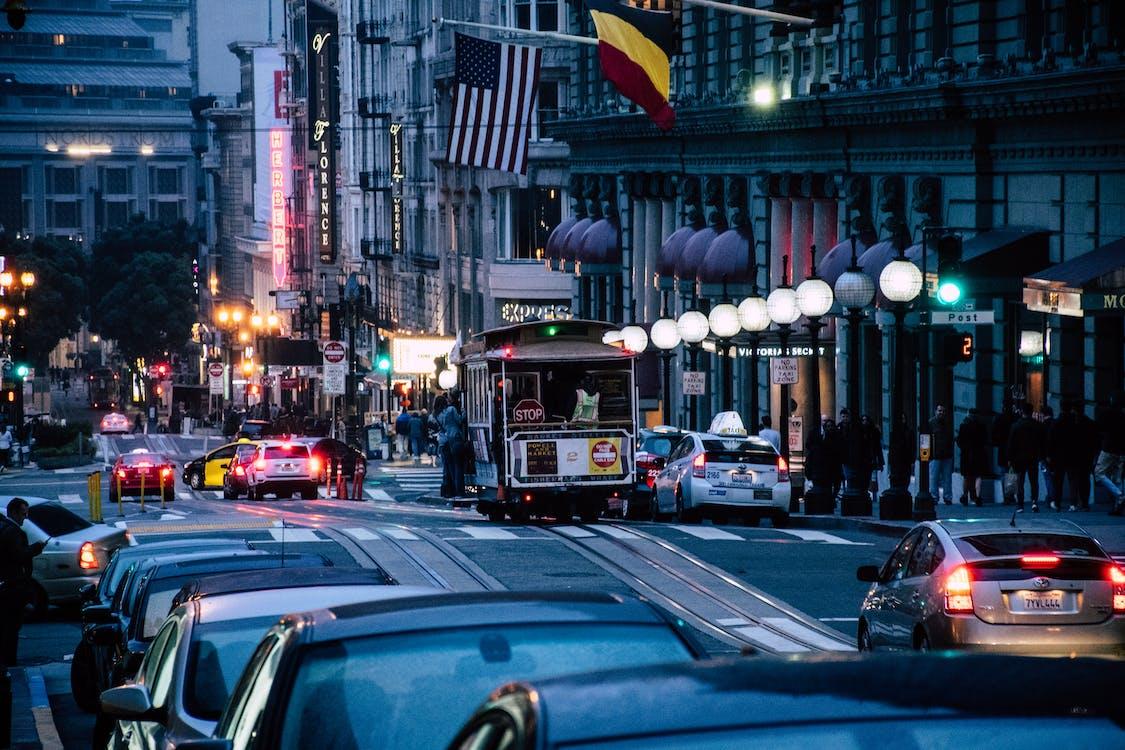 автомобілі, Американський прапор, архітектура