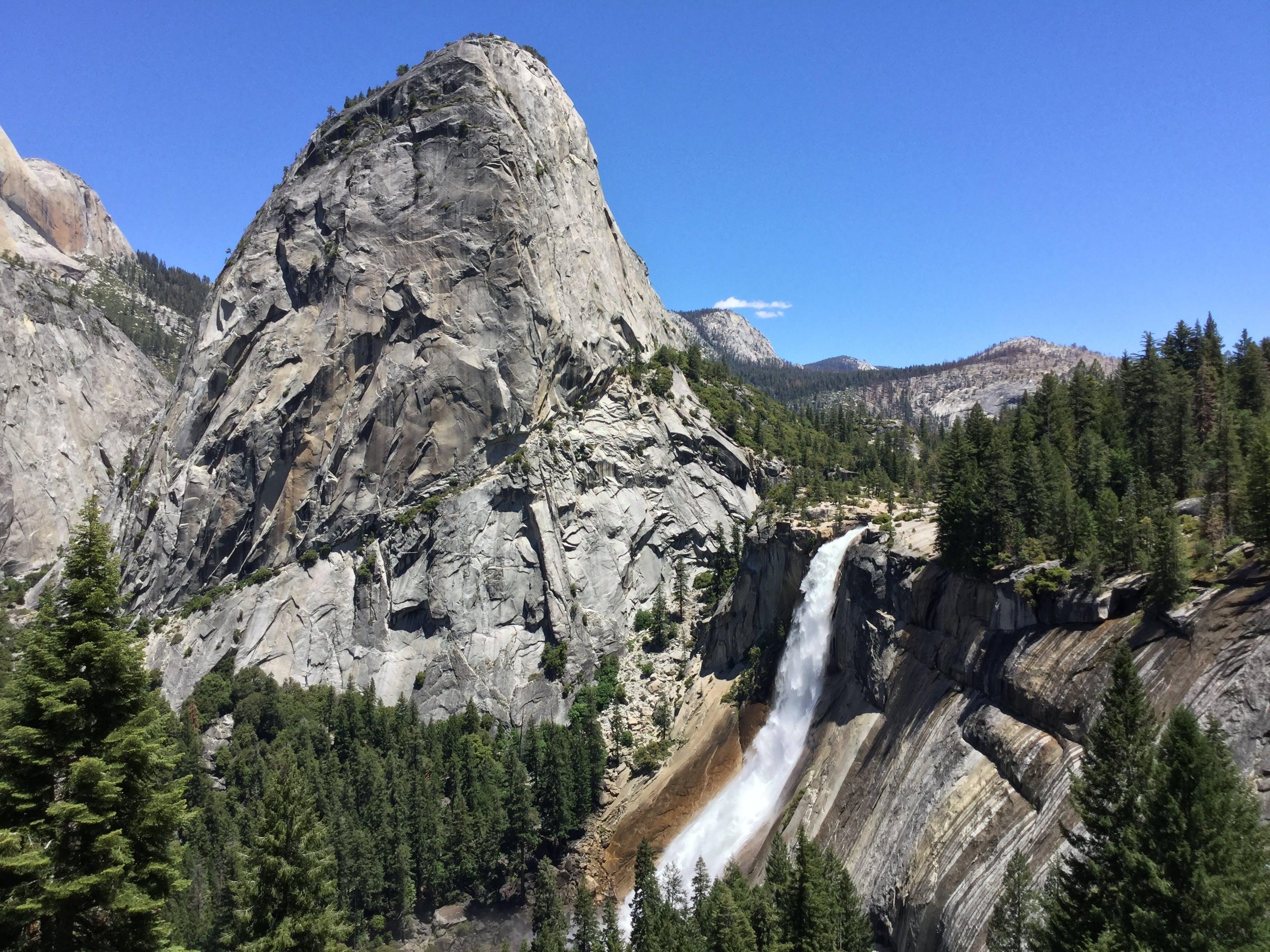 Free stock photo of nevada falls, rock, water, waterfall