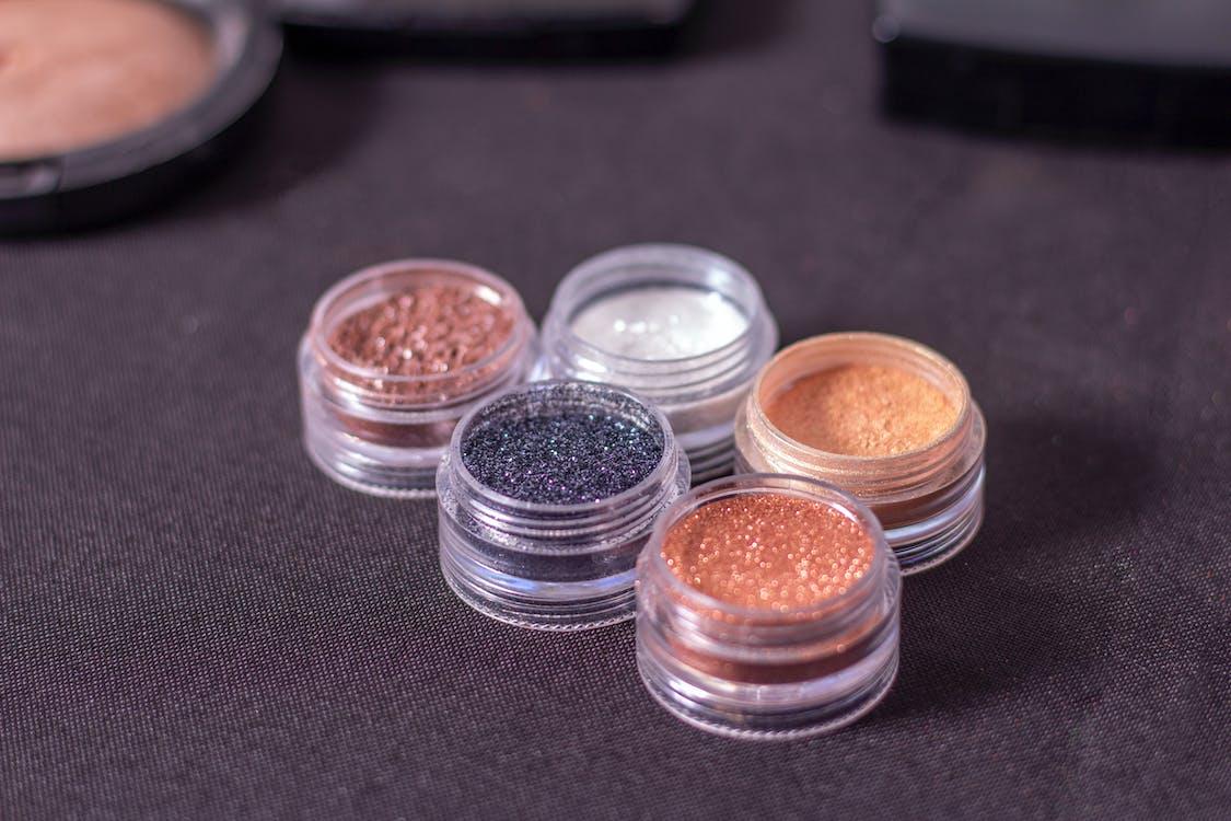 Five Assorted-color Glitter Foundation