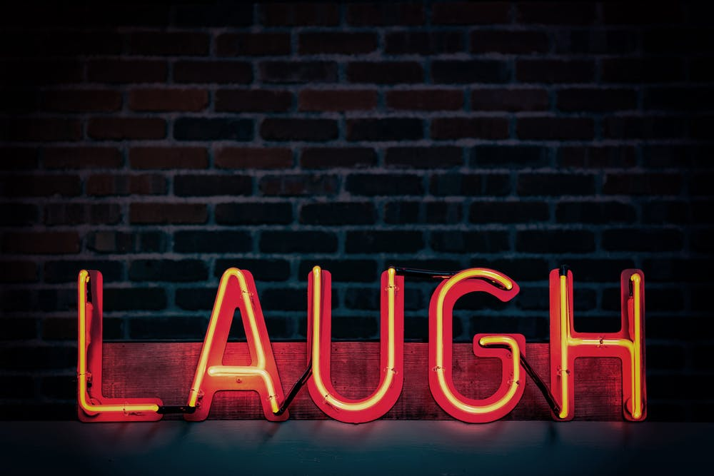 Laugh Neon Sign