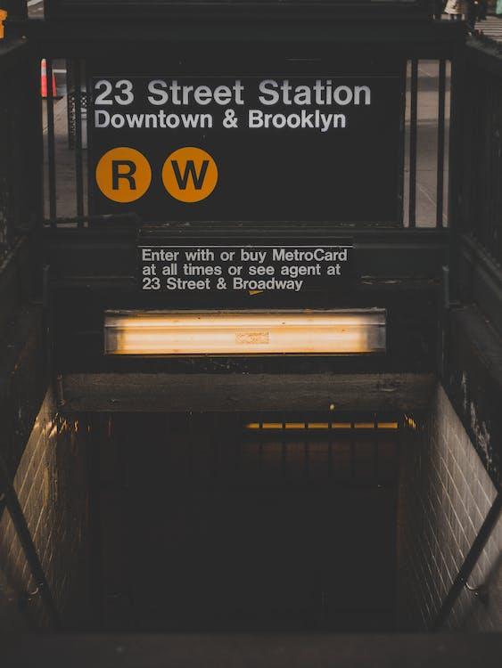 ljus, metro, New York