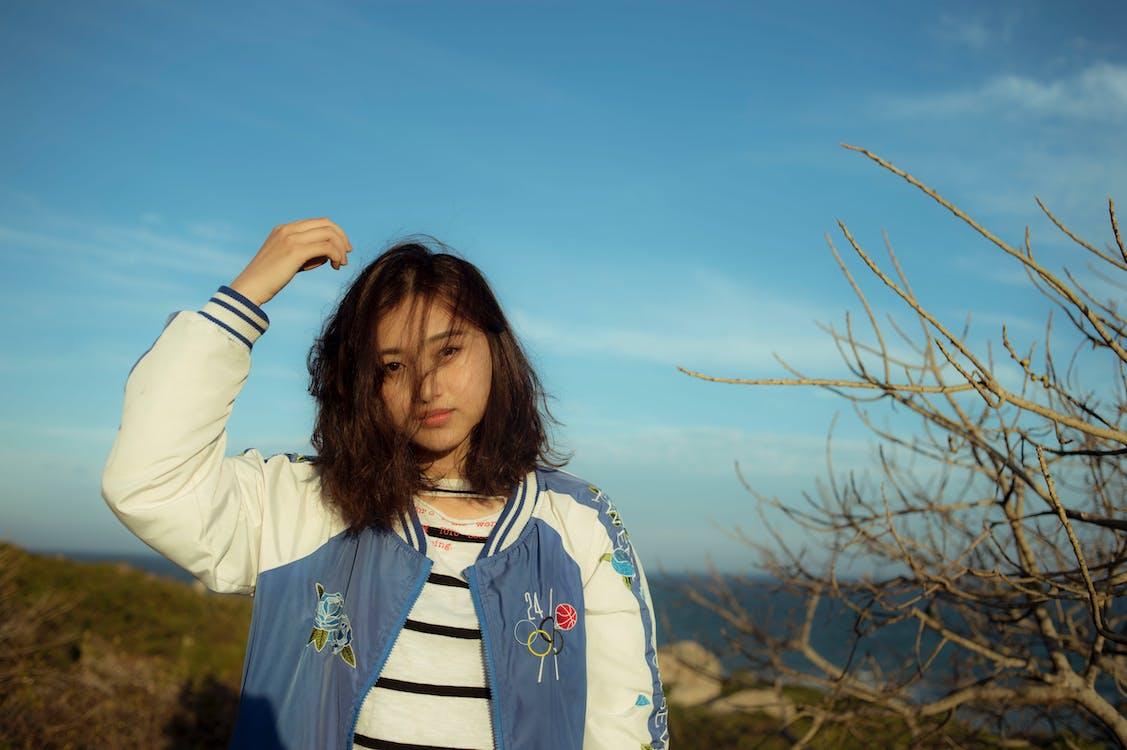 ansigtsudtryk, asiatisk kvinde, Asiatisk pige