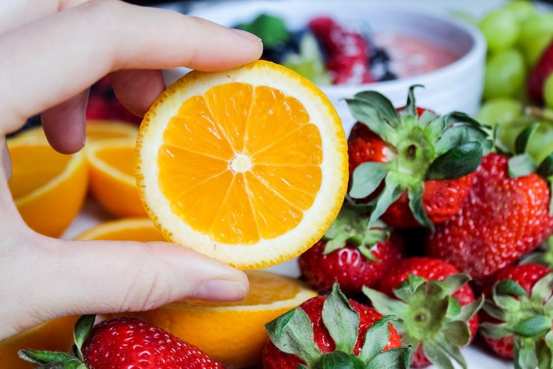 bobule, čerstvé ovoce, červená