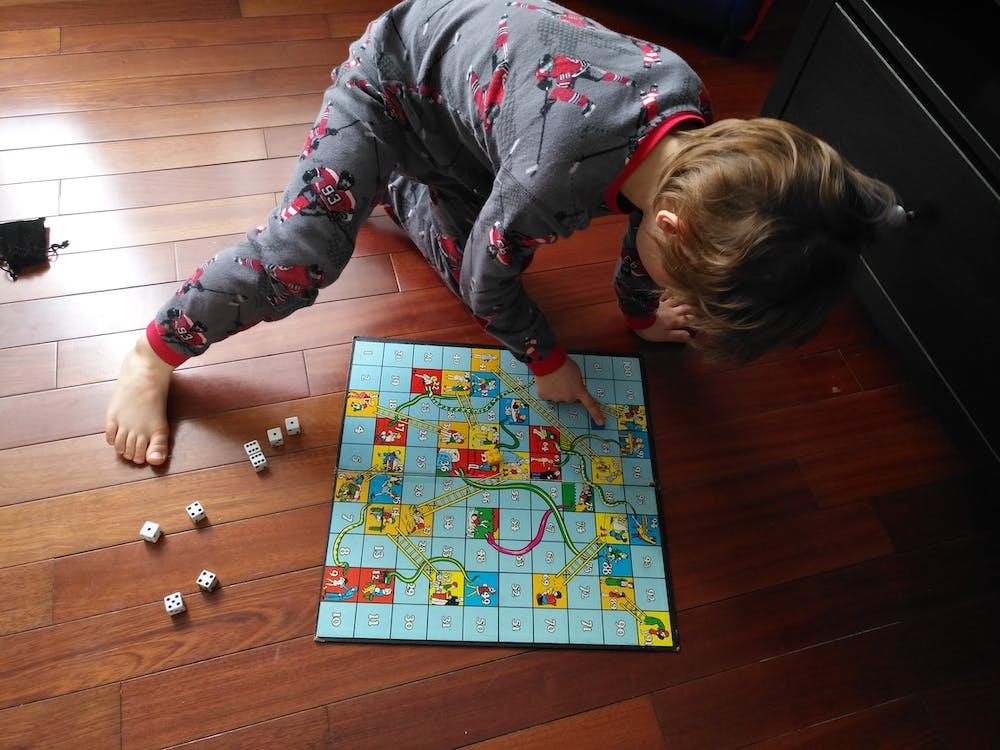 Free stock photo of board game, child, nephew