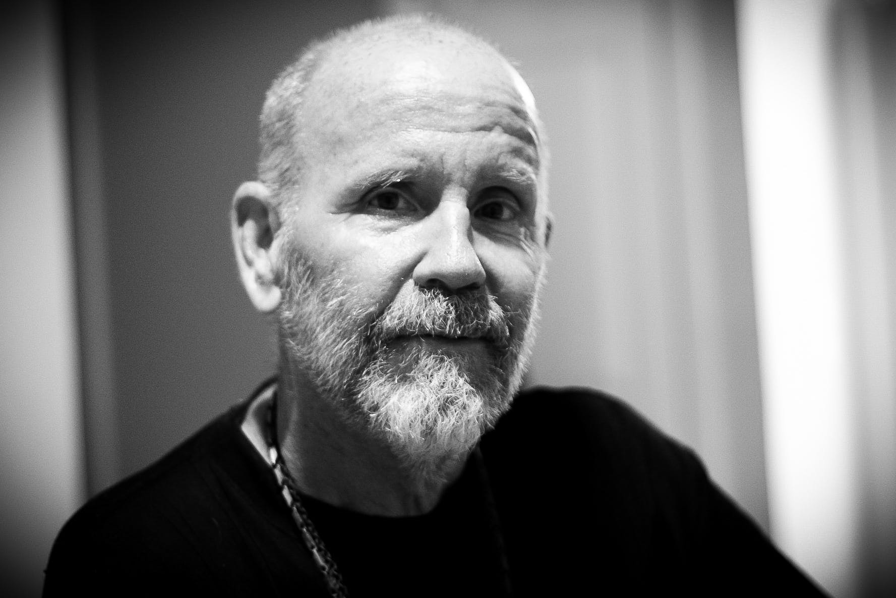 Free stock photo of bald, black and white, contrast, full beard