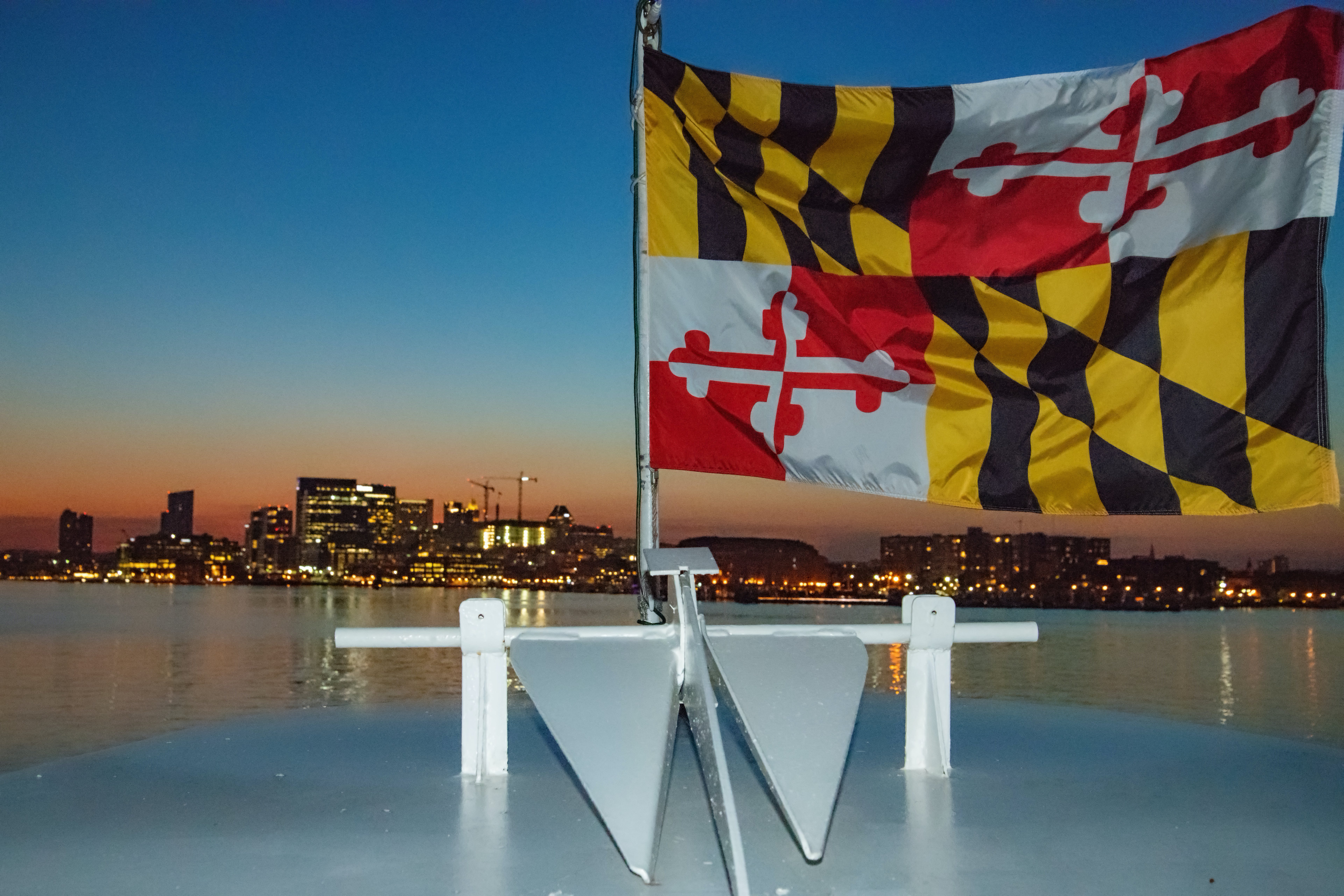 Free stock photo of flag, boat deck, Maryland