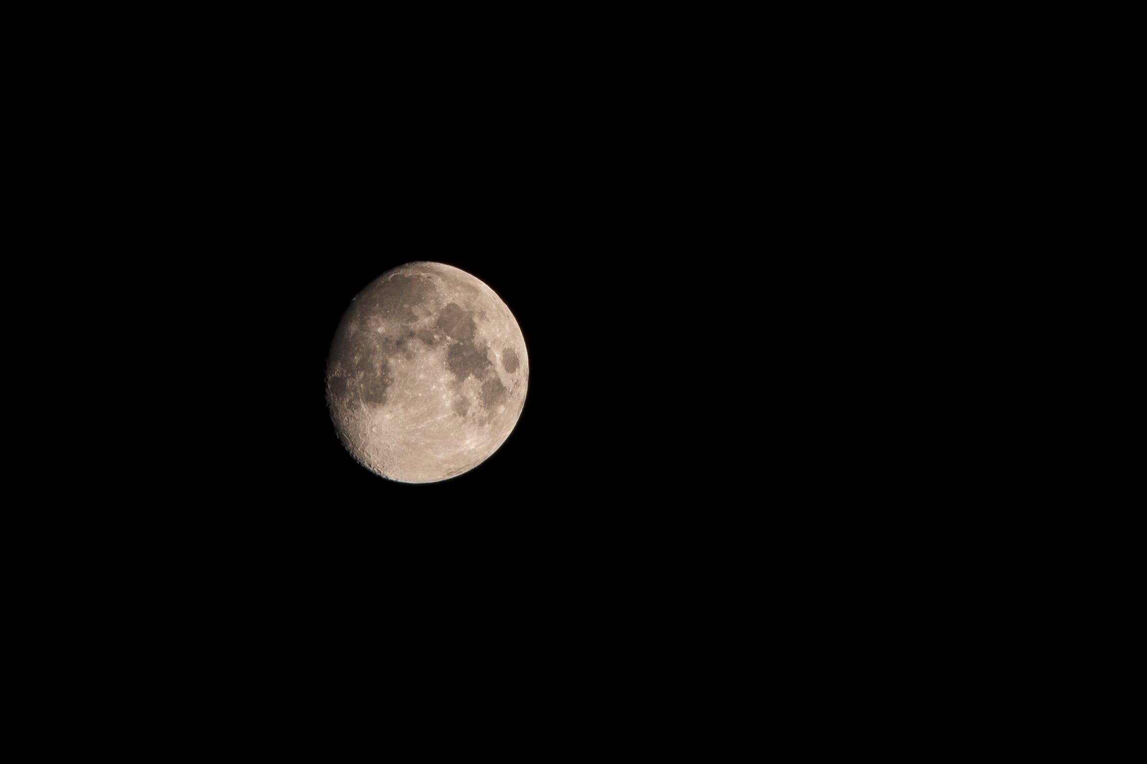 Wanning Gibbous Moon