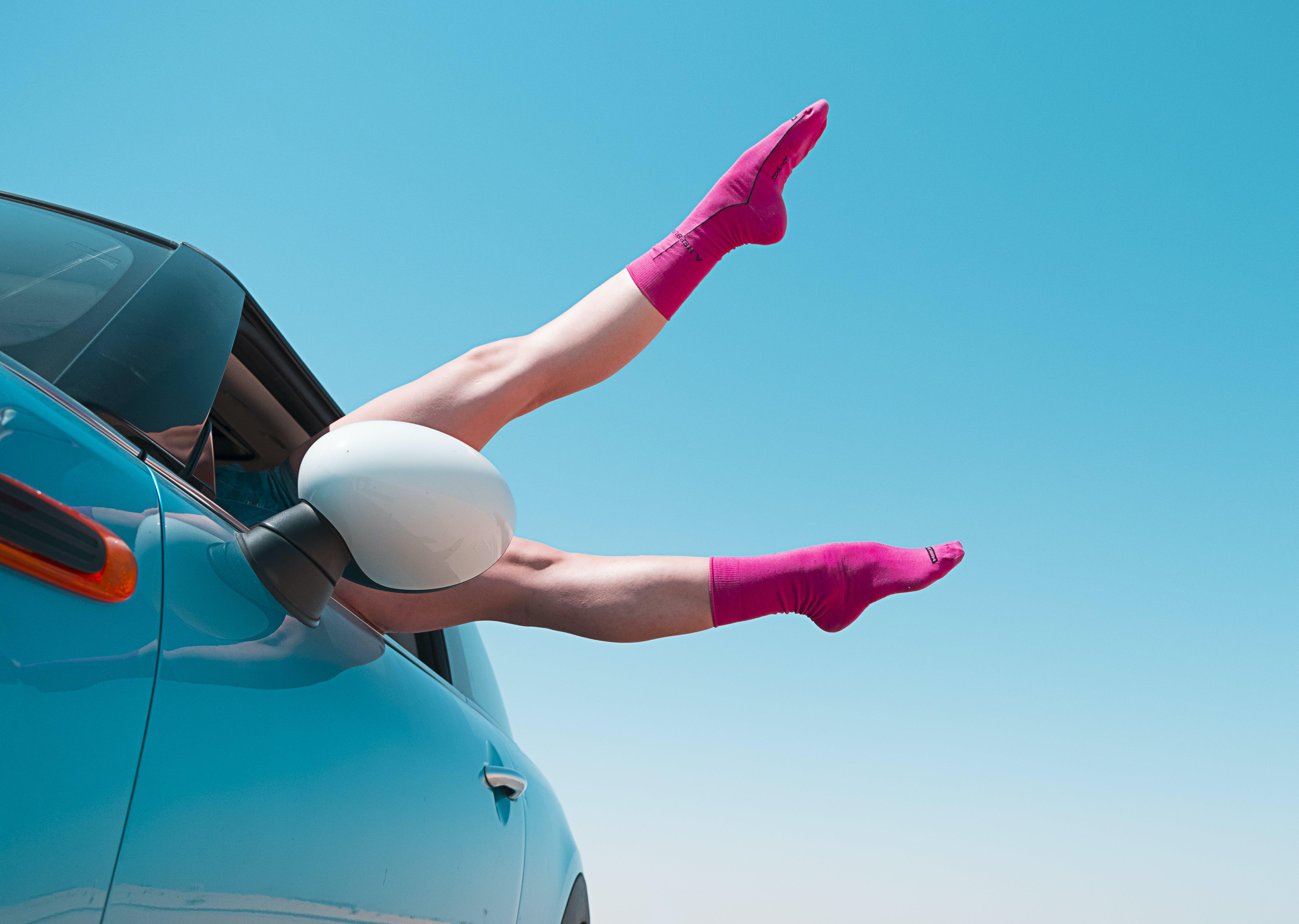 Women's Pair of Pink Socks